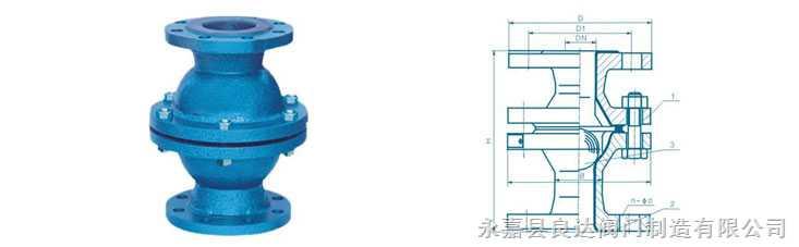 衬氟球型止回阀h40f46-10c图片