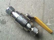 用于机电工程石化工程管道中的卡套球阀