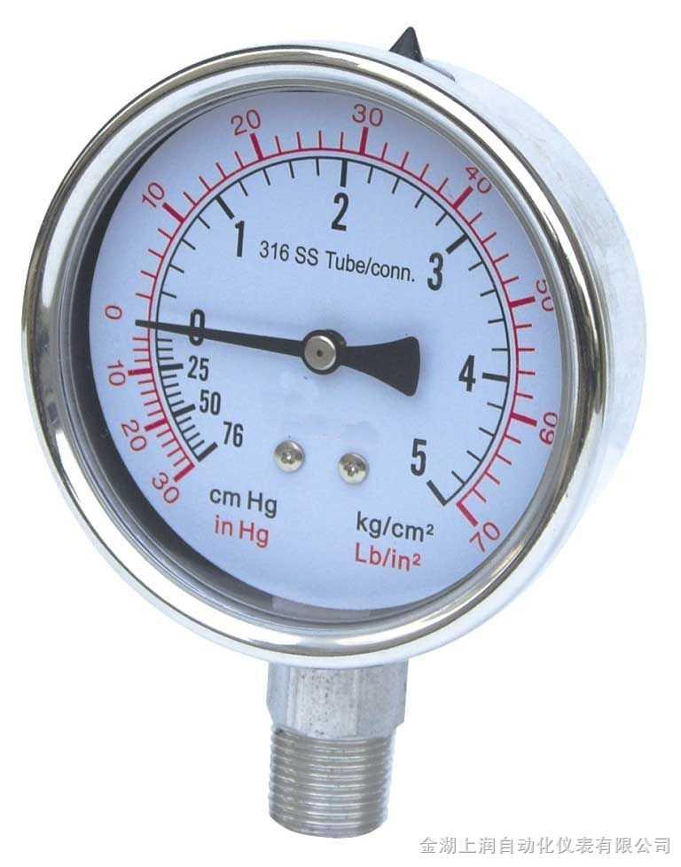 sr-012不锈钢电接点压力表-金湖上润自动化仪表有限