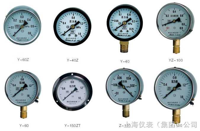 一般压力表Y-150ZT