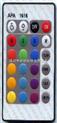JRM016-24键遥控器,LED遥控