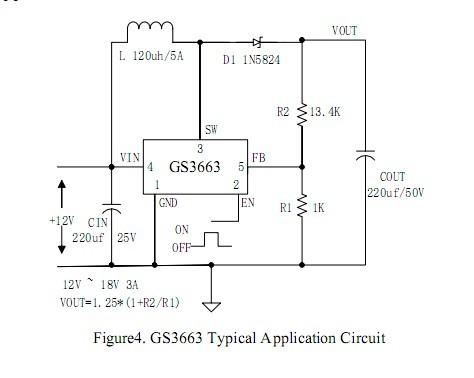 12~24v输入 15v输出1a 升降压电路 dc-dc芯片