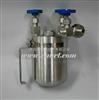 M363758不锈钢液氨取样器,国产液氨采样器,国产液氨取样罐(带压力表)